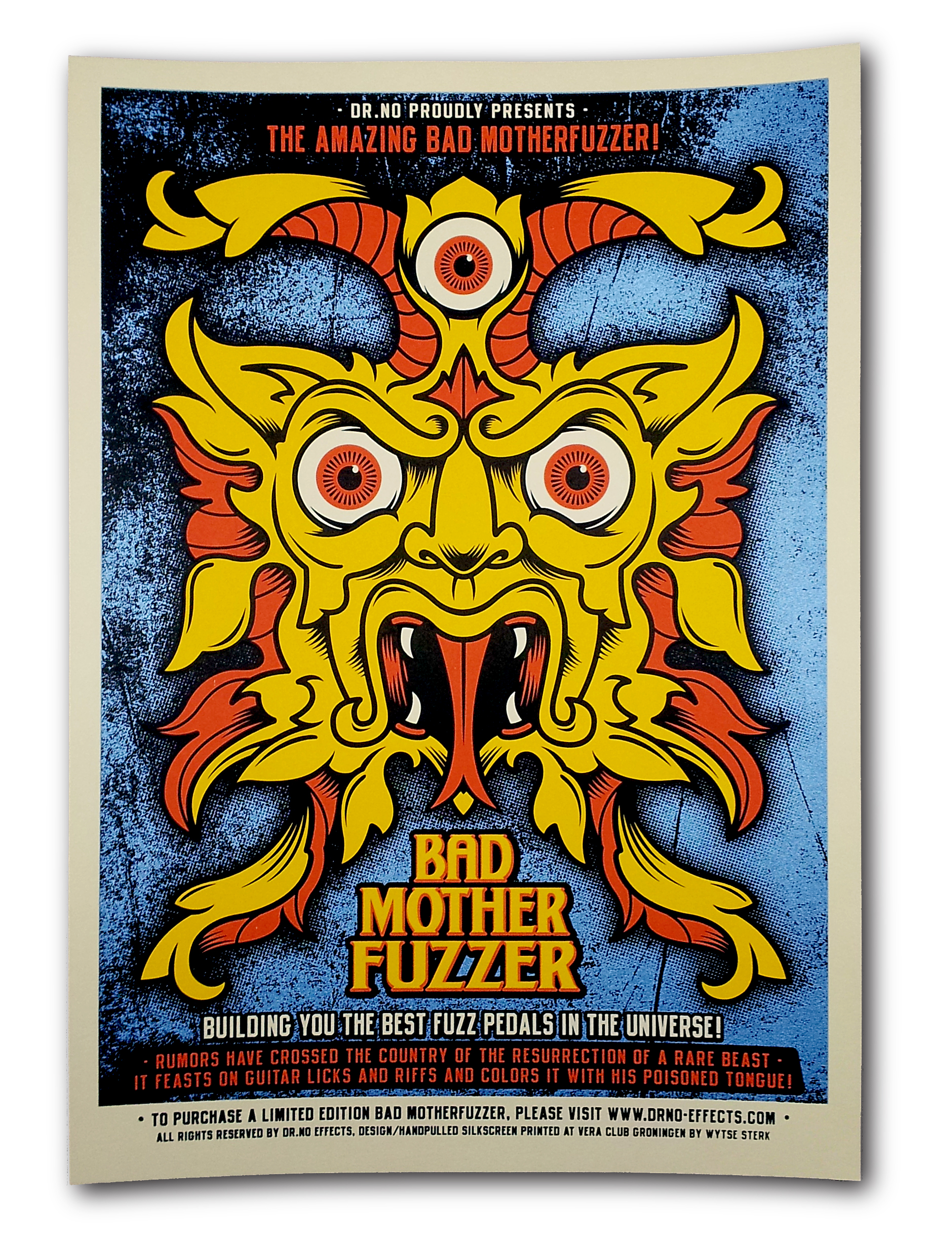 Bad MotherFuzzer Silkscreen Printed Poster